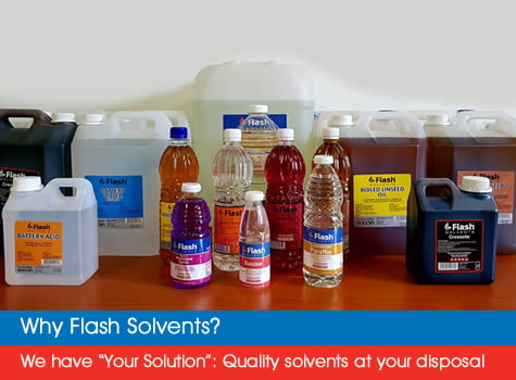 Flash Solvents | High Quality Solvents | Solvent Suppliers | South